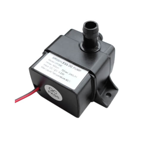 Small DC water pump compatible with TankBot, the hydroponics controller of the GroLab system