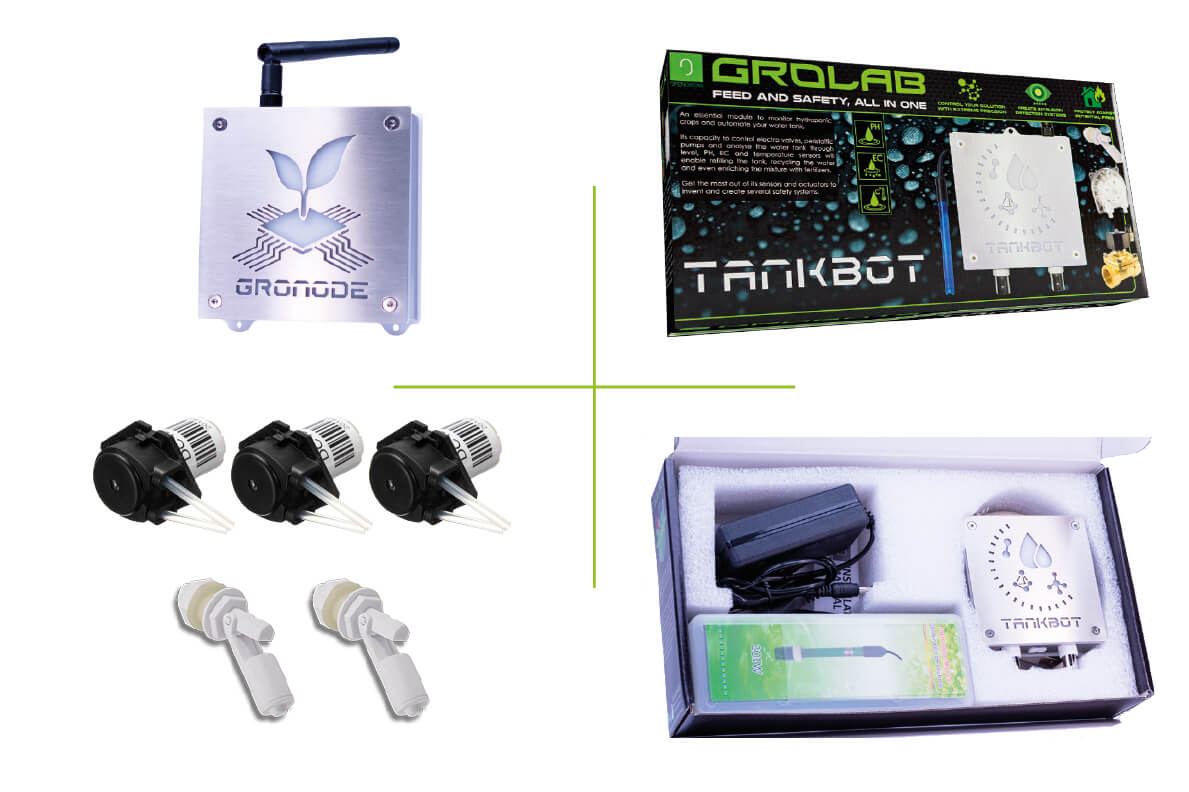 GroLab Starter Kit packaging, on box open and close